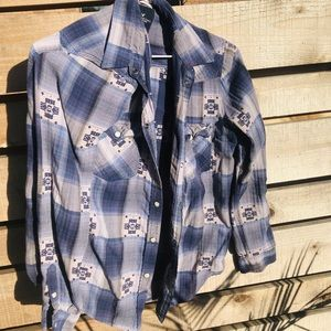 Blue plaid American Eagle Shirt